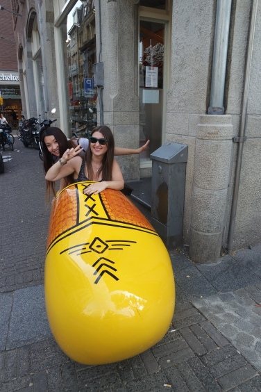 Posing in a clog