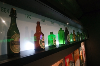 Heineken bottles over the years